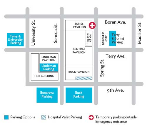 Emergency Department location map.