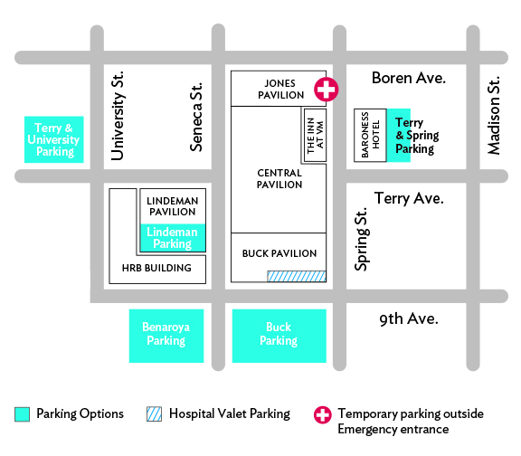 emergency department location map
