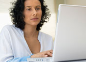 Image: Woman using computer