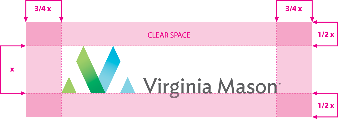 Virginia Mason horizontal logo clearspace