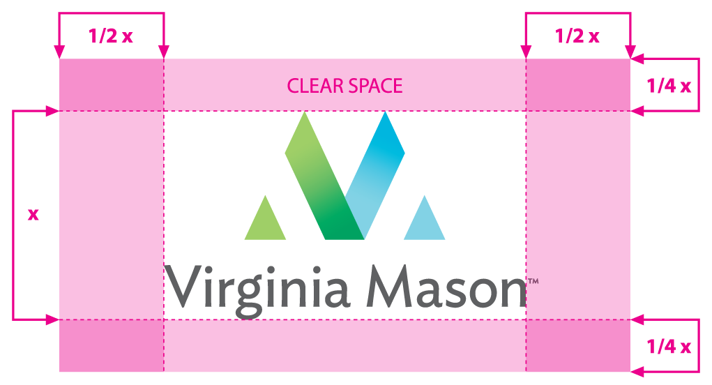 Virginia Mason vertical logo clearspace