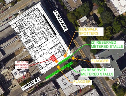 Work to Affect Some Parking Spaces on Spring Street