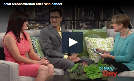 Dr. Michael Nuara and patient discuss facial plastic surgery post cancer treatment on New Day Northwest.