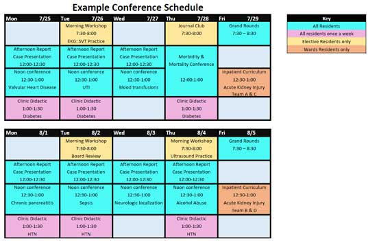 Example Conference Schedule