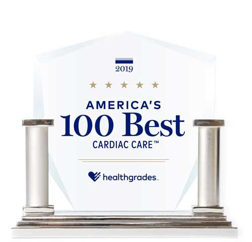 Healthgrades 2019 100 Best Cardiac Care Award