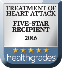 Health Grades 2016 5-Star Award - Heart Attack Treatment