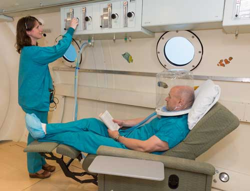 Adjusting Hyperbaric Oxygen Levels