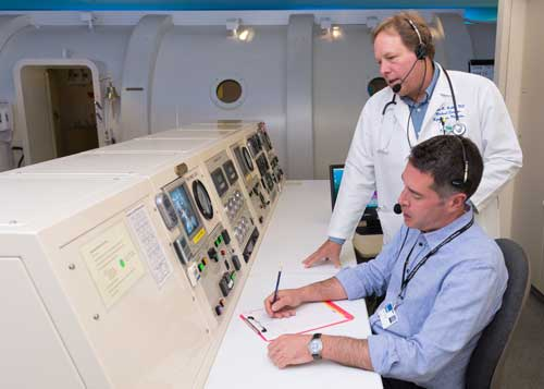 Monitoring Hyperbaric Patients