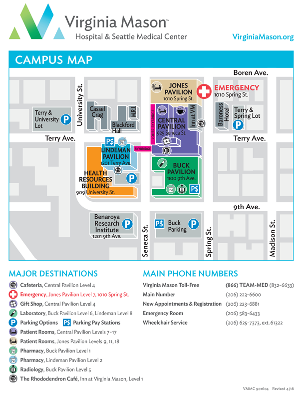 Virginia Mason Campus Map