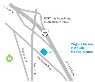 Virginia Mason Issaquah Medical Center Location Map