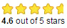 Star ratings - 4.6 out of 5 stars