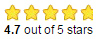 Star ratings - 4.7 out of 5 stars