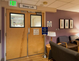 Image: Entrance to sleep lab, Hospital Level 10