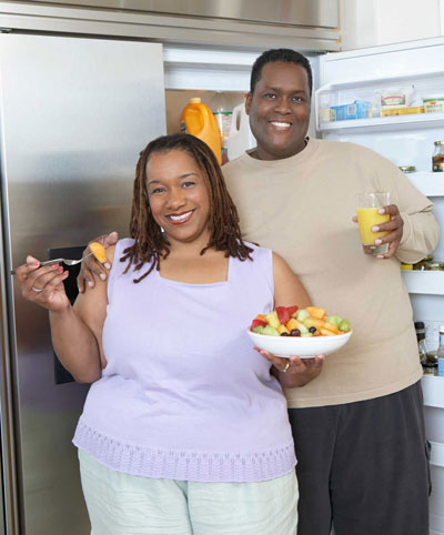 couple eating healthy
